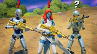 Fortnite Pretending to be Boss Mystique (New Bosses, Mythic Weapons, Vault Locations & Keycard)