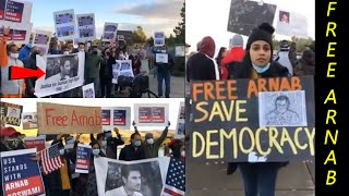 California People Protesting for Sushan Singh and Arnab Goswami | Shweta Singh Shares Video