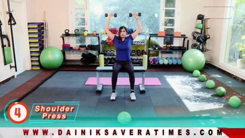 """Fit With Jen"" || DAY 1 || 4 Week Senior Fitness Challenge || @8AM Daily on Dainik Savera"