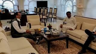 शिवराज सिंह चौहान से मिलने पहुंचे पूर्व सीएम कमलनाथ