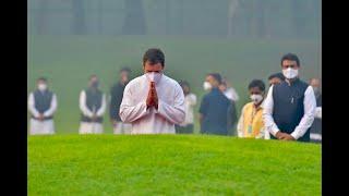 131st birth anniversary of Pt Jawaharlal Nehru: Shri Rahul Gandhi offers tributes at Shanti Vana