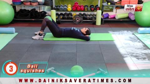 """Fit With Jen"" || DAY 6 || 4 Week Senior Fitness Challenge || @8AM Daily on Dainik Savera"