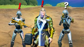 Fortnite Pretending to be Boss Thor (New Bosses, Mythic Weapons, Vault Locations & Keycard)
