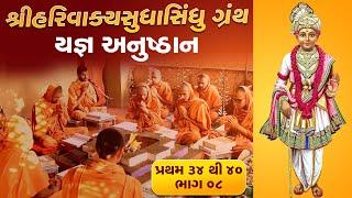 શ્રી HARIVAKYSUDHASINDHU યજ્ઞ અનુષ્ઠાન I Part-08 I Swami Nityaswarupdasji I Tirthdham Sardhar