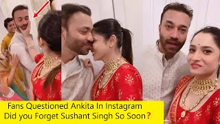 Ankita Lokhande Forget Sushant Singh And Celebrates Diwali with Boyfriend Vicky Jain | Fans Angry
