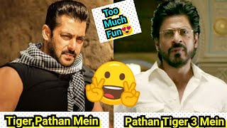 Tiger Ab Aayega Pathan Mein,Pathan Fir Aayega Tiger3 Mein,Salman & SRK To Work Together In Spy Films