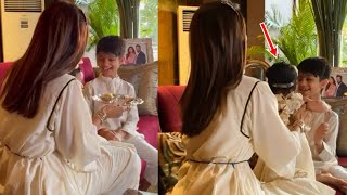 Shilpa Shetty Kids Viaan Raj Kundra & Samisha Shetty celebrating their first Bhai Dooj