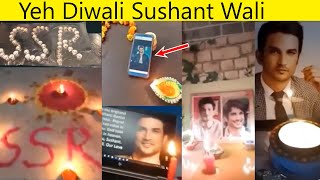 Sushant Singh Fans Celebrated Diwali keeping SSR Photo In The Pooja is Very Emotional And Beautiful