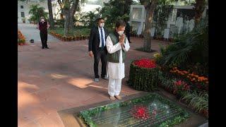 Rahul Gandhi pays homage to Smt.Indira Gandhi on her birth anniversary at Indira Gandhi Memorial