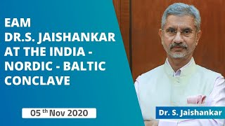 EAM Dr. S. Jaishankar at the India-Nordic-Baltic Conclave