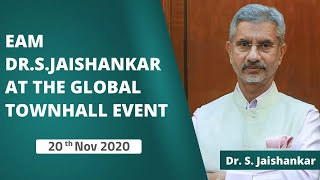 EAM Dr. S.Jaishankar at the Global Townhall Event (20th Nov 2020)