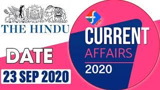Current Affairs   23rd September 2020   Formula UPSC