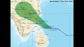 Cyclone Nivar: Satellite images and track of the 'very severe cyclonic storm'