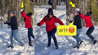 Preity Zinta Prank On Husband Gone Wrong Throwing Snow On Head Very Funny Video