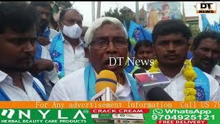 TJS Party president M. Kodandaram k hamrah Contested Candidate Nizam Uddin k sath paidal daura