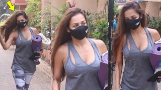 Malaika Arora Seen in Very Hottest Outfit outside Yoga Class