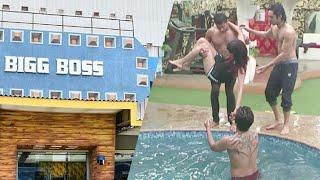 வெள்ளத்தில் மூழ்கிய பிக்பாஸ் வீடு   Nivar cyclone floods in Bigg Boss 4 House