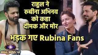 Bigg Boss 14: Rahul Vaidya Ne Kaha Rubina Abhinav Ko Dimak Aur Mor, Bhadak Gaye Rubina Fans