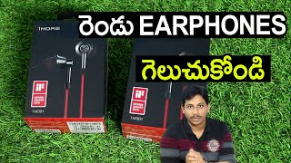 1MORE Single Driver Earphones Unboxing Telugu