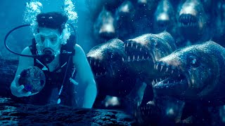 Akhil Finds Jua In Evil Pond And Escapes From Killer Fishes | Surya Kavasam Movie Scenes | Sayesha