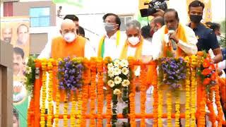 HM Shri Amit Shah's roadshow in Secunderabad, Telangana.