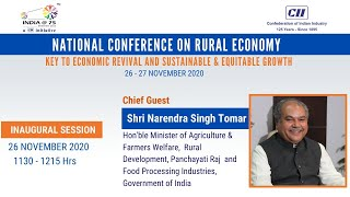 """CII National Conference on """"Rural Economy: Key to Economic Revival & Sustainable & Equitable Growth"""