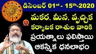 December 1st - 15th 2020   December Month Four Lucky Horoscope   Astrologer Mantha Suryanarayana