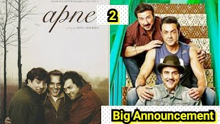 Apne 2 Big Announcement By Dharmendra, Sunny Deol And Bobby Deol