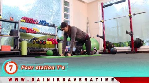 """Fit With Jen"" || DAY 24 || 4 Week Senior Fitness Challenge || @8AM Daily on Dainik Savera"