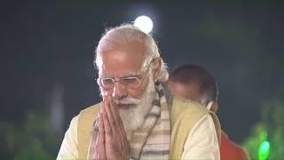 PM Modi pays floral tribute to Sant Ravidas in Varanasi, Uttar Pradesh   PMO