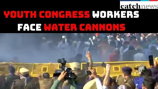 Youth Congress Workers Face Water Cannons After Gheraoing Haryana CM's Residence | Catch News
