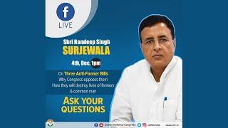 LIVE: Randeep Singh Surjewala discusses anti-farmer laws & their impact on Indian lives