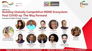 Building Globally Competitive MSME Ecosystem Post COVID-19: The Way forward