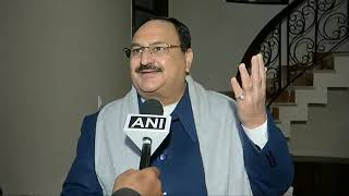 BJP National President Shri JP Nadda comments on the GHMC election results