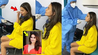 Housefull 4 Fame Kriti kharbanda Crying After Corona Test Heavy Pain in the Nose