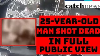 Delhi: 25-Year-Old Man Shot Dead In Full Public View, Crime Caught Of Cam   Catch News