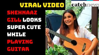 Shehnaaz Gill Looks Super Cute While Playing Guitar In This Viral Video | Catch News