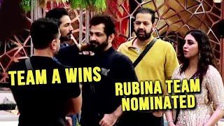 Bigg Boss 14: Team A Wins The Task, Eijaz  Abhinav Arshi Rahul | Rubina Team Nominated Twist