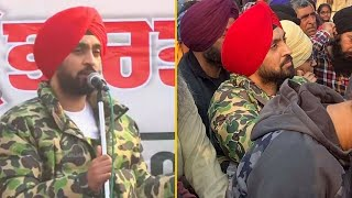Diljit Dosanjh had joined the farmers Protest today in solidarity with our farmers.