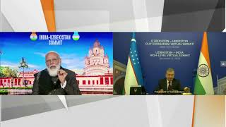 PM Modi & Uzbek President Shavkat Mirziyoyev holds India-Uzbekistan Bilateral Virtual Summit | PMO