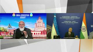 PM Modi's opening remarks at Bilateral Virtual Summit with Uzbek President Shavkat Mirziyoyev  | PMO