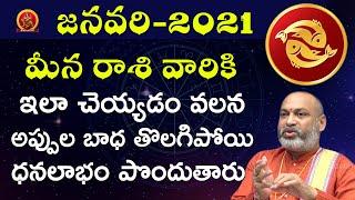 Meena Rasi January 1st - 31st 2021 | Rasi Phalalu Telugu | Nanaji Patnaik | Pisces