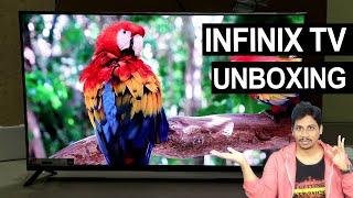 "INFINIX X1 SMART TV Unboxing Telugu | 43"" FHD Android TV"