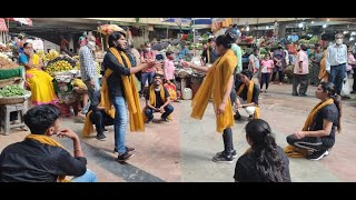 Theatre artists from Kala Academy perform street plays spreading awareness on Covid