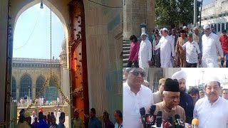 Mumtaz Khan And Ahmed Pasha Quadri Reopen The Main Gate Of Macca Masjid | Charminar |@Sach News