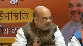 HM Shri Amit Shah addresses a press conference in Birbhum, West Bengal.