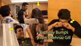 OMG Siddharth Shukla Screaming Heavily Because Of Hard Birthday Bumps From Shehnaz Gill and Friends