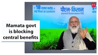 PM Modi alleges Mamata govt is blocking central benefits to West Bengal farmers