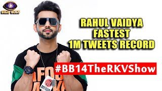 Bigg Boss 14: Rahul Vaidya Becomes 1st Contestant Of BB 14, Fastest 1M Tweets