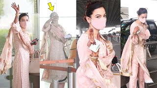 Nayi Dulhan Is Back To Work Already Gauahar Khan Seen At The Airport Going For A Shoot